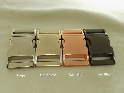 4x 1'' (25mm) -Contoured Metal Side Release Buckle, 4 finished color