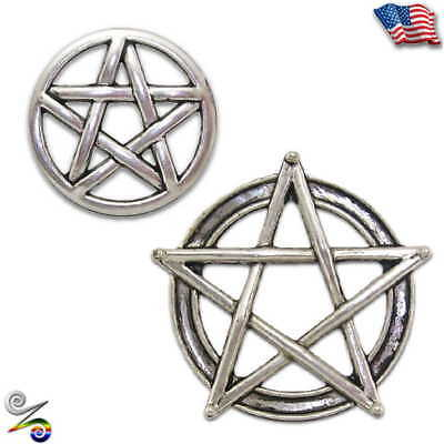 Pentacle Pentagram Pagan Wicca Witch Celtic Knot Magick Lapel Hat Tie Pin Brooch