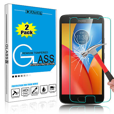 2 Pcs Premium Clear Real Tempered Glass Screen Protector Film 9H HD For Motorola