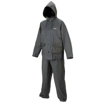 Coleman Adult 20mm PVC Rain Suits BLACK LARGE UNISEX (fit Chest 106-114cm)