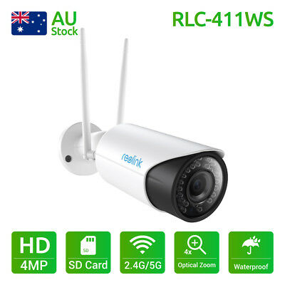 WIFI Wireless IP Camera Dual Band SD Card Home Security CCTV Reolink RLC411WS