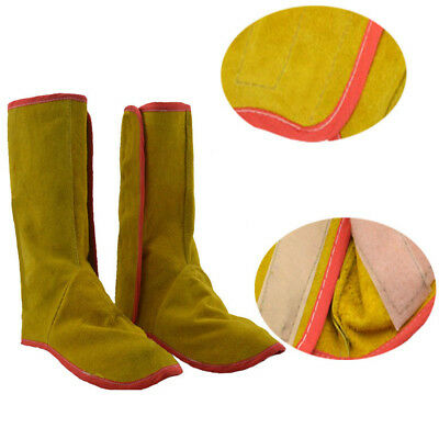 Durable Leather Welding Protective Shoes Feet Cover Welder Flame Retardment