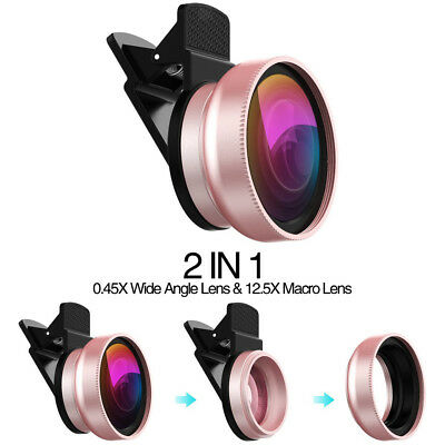 Macro & Wide Angle Camera Lens for iPhone X 8 7 Samsung Galaxy S8 S8+ S7 S7+