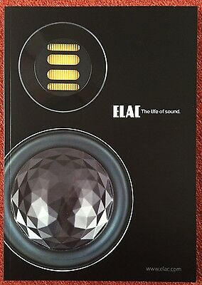 Orig. ELAC HiFi Boxen Lautsprecher Katalog Prospekt The life of sound 2016 SUPER
