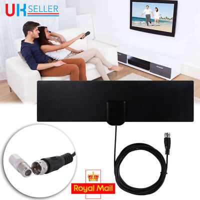 TV & F Connector Female Indoor Antenna Aerial HD TV Fox Scout HDTV VHF UHF 2017