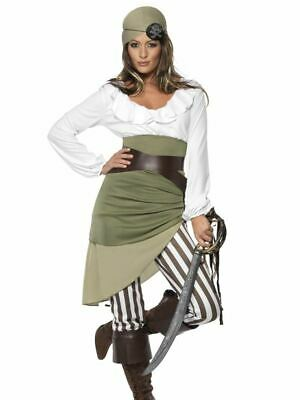 Womens Ladies Shipmate Sweetie Caribbean Pirate Fancy Dress Costume Outfit