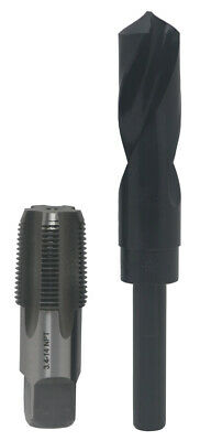 "3/4"" Carbon Steel NPT Tap and 59/64"" HSS Drill Bit, Qualtech"