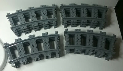 Lego RC Train Track Curves x 16 -- BRAND NEW from 60098