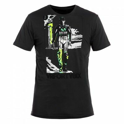 Vr46 Valentino Rossi Official Standing Vale Life Style T-Shirt Moto Gp Tee Grey