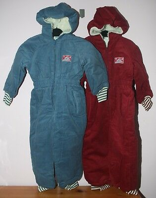 Child's Burgundy (Red) or Blue Hooded Corded Snowsuit - New - 18-24 months