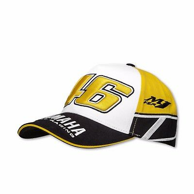 Vr46 Official Yamaha Factory Racing Heritage Cap - Moto Gp Racing Motorcycle Cap