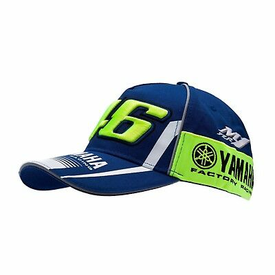 Vr46 Valentino Rossi - Official Yamaha Factory Racing Cap - Moto Gp Racing Cap