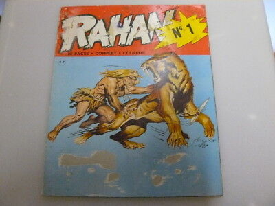 Rahan N° 0 Eo D'octobre 1971 Rare Dessins D'andre Cheret Lire La Description