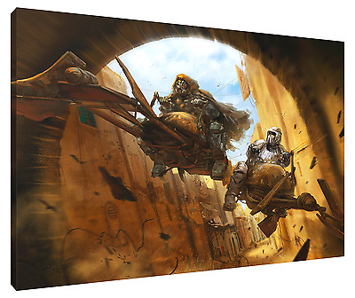 THE RACE HD Canvas Art  Print (FRAMED) Fast FREE Shipping! STAR WARS