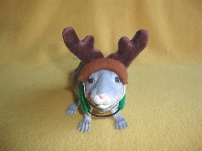 Reindeer Costume with Brown Antlers for Rat from Petrats