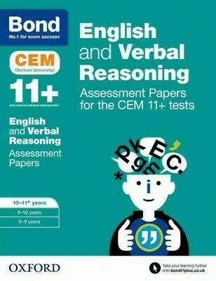 Bond 11+: English and Verbal Reasoning: Assessment Papers for the Cem 11+ Tes...