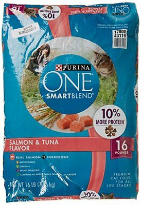 Purina O.N.E. Cat Food Adult Total Nutrition Salmon & Tuna 16 lb