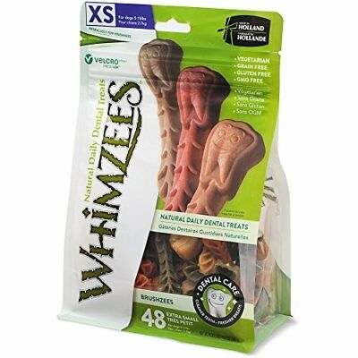 WHIMZEES Natural Grain Free Dental Dog Treats Extra Small Brushzees Bag of 48