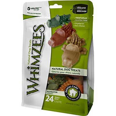 WHIMZEES Natural Grain Free Dental Dog Treats Small Alligator Bag of 24