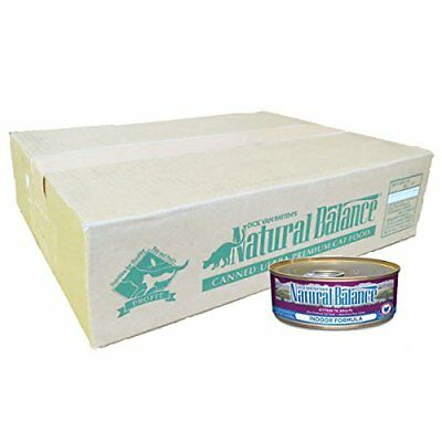 Natural Balance Indoor Formula Wet Cat Food 5.5-Ounce Can (Pack of 24)