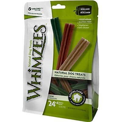 WHIMZEES Natural Grain Free Dental Dog Treats Small Stix Bag of 28