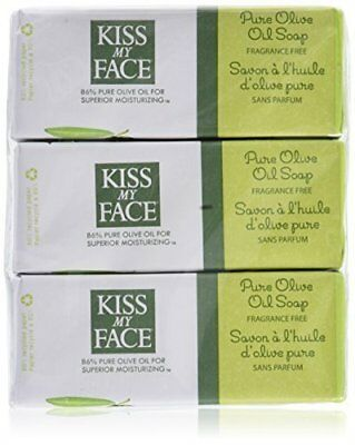 Kiss My Face Bar Soap Pure Olive Oil 8 OZ (6 pack)