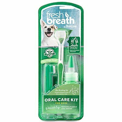 Tropiclean Fresh Breath Plaque Remover Pet Oral Care Kit Large