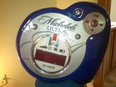 MICHELOB ULTRA Digital Clock Lighted Sign - MP3 Player Design Wall Mount Tested
