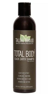 Taliah Waajid Cleansing Total Body Black Earth Shampoo hydrated and shines 8oz M