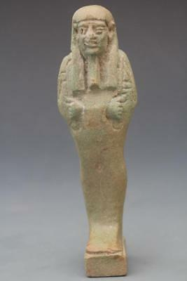 Provenanced Egyptian Faience Green Glazed Shabti, Late Dynastic Period, C664 - 3