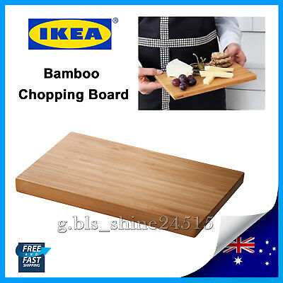 IKEA 24x15cm Wooden Bamboo Kitchen Chopping Cutting Board Small Serving Cook