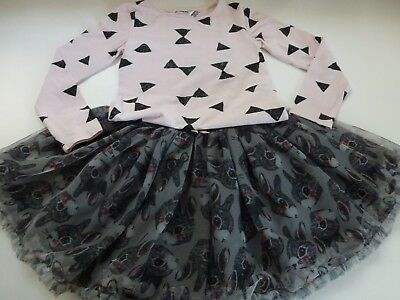 H&M Girls Cute Sparkly Top & Tulle Skirt - Aged 5-6 years