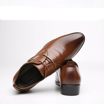 Men's Dress Formal Oxfords Leather shoes Casual Business pointed toe Party Prom