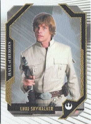 Star Wars 2017 Masterwork - Canvas Parallel Hall Of Heroes Chase Card Hh-1 66/99