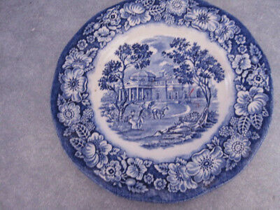 STAFFORDSHIRE LIBERTY BLUE BREAD & BUTTER PLATE-MONTICELLO Colonial - set 2