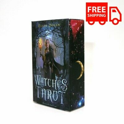 Witch Tarot Cards Deck Board Game Gift Toy Adults Mystic Fate 78 Cards Gadget