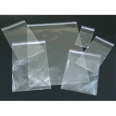 20  pc Clear Resealable Recloseable Self Adhesive Sealable Tape Poly Cello Bags