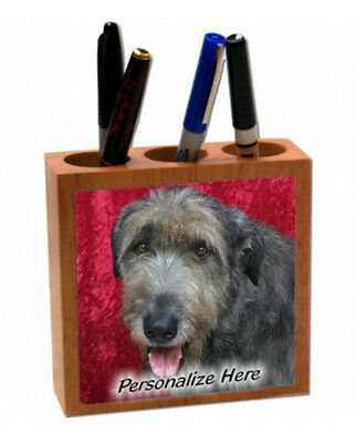 Irish  Wolfhound   Personalized  Pencil and Pen Holder