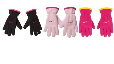 New Nike Youth Girls  Fleece Gloves  One Size  7-16, [Choose Color ]