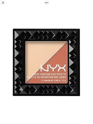 NYX Cheek Contour Duo Palette CHCD03 COUPLE PARFAIT~ DELIGHTFUL BEAUTY