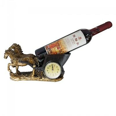 New Polyresin Wine Bottle Holder Horse Carriage 28 x 15 x 10cm