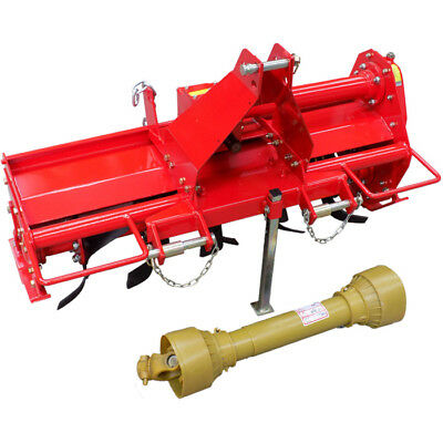 4ft Rotary Hoe Tiller Cultivator 1250mm CAT 1, 3 PL for Tractor 20HP+