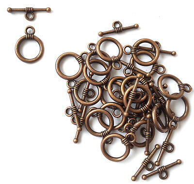 5Set Of Antique Copper Fancy Toggle Clasps Wholesale Price