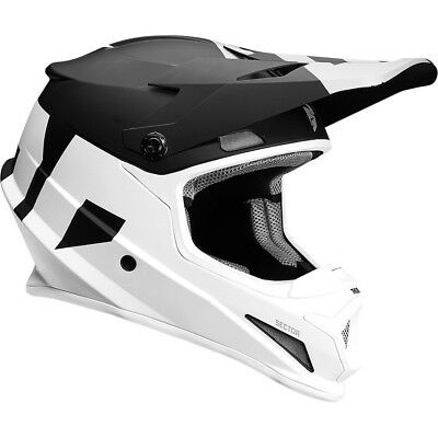 Thor NEW Mx 2017 Sector Level Matte Black White Motocross Dirt BIke Helmet
