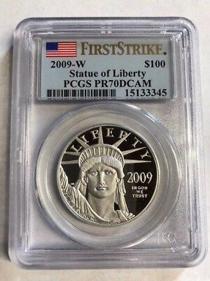 2009-W $100 PLATINUM EAGLE 1 Oz. PCGS PF70  FIRST STRIKE