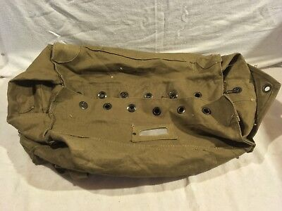 Vintage Military Khaki Tan 19 X 28 Heavy Canvas Italian Large Duffle Bag