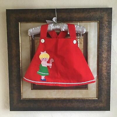 Vintage Christmas Dress Saver Candy Cane Girl Toddler Size Swing Top