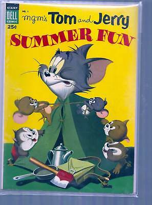 Dell Giant Comic Tom And Jerry Summer Fun # 1
