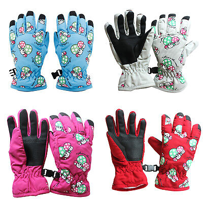 Non-slip, for 2-4 year old children, ski skate gloves (White Moon) O8W3