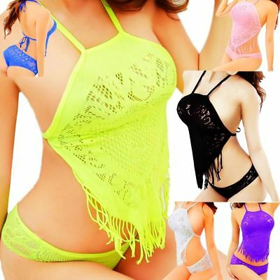 Sexy Women's Lingerie Fishnet Dress Body stockings Underwear Babydoll Sleepwear